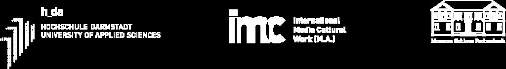 Logos: h_da, IMC, Museum Schloß Fechenbach